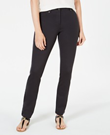 Style & Co Petite Ponte-Knit Skinny Pants, Created for Macy's