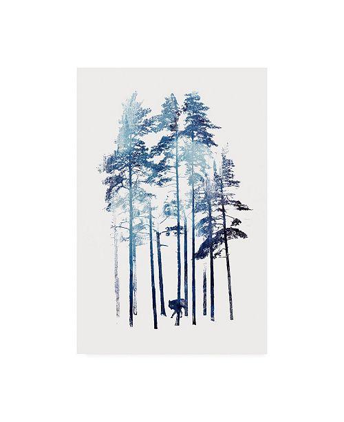 "Trademark Global Robert Farka Winter Wolf Watercolor Canvas Art - 19.5"" x 26"""