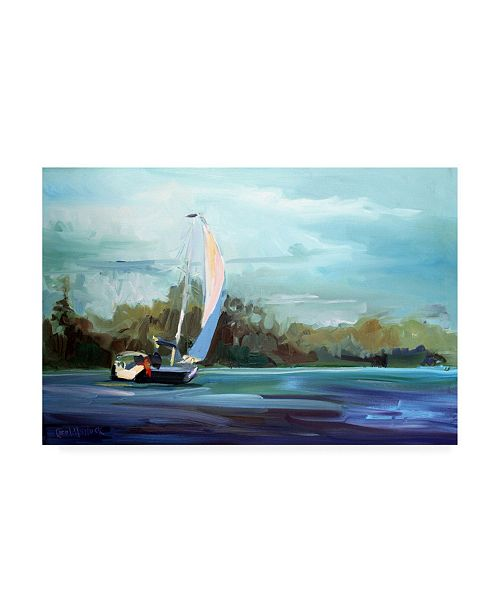 "Trademark Global Carol Halloc Sailboat on the Water Canvas Art - 27"" x 33.5"""