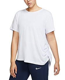 Plus Size Miler Short-Sleeve Running Top