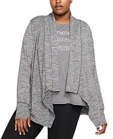 Nike Plus Size Yoga Long-Sleeve Top