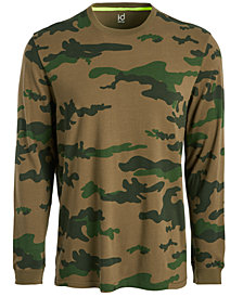 ID Ideology Men's Exploded Camo Long-Sleeve T-Shirt, Created for Macy's