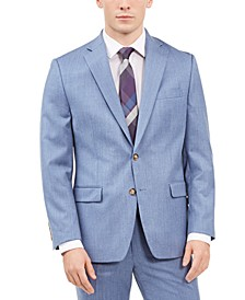 Men's Classic-Fit UltraFlex Stretch Light Blue Solid Suit Separate Jacket