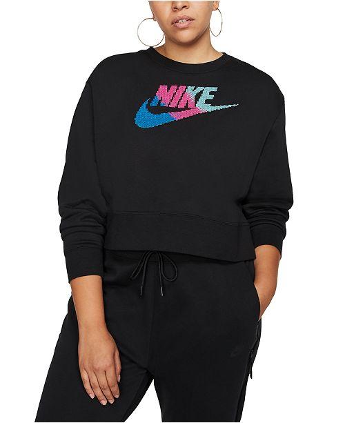 Nike Plus Size Sportswear Fleece Crewneck Sweatshirt