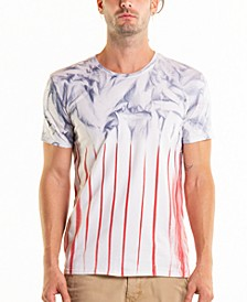 South Sea American Flag Tie Dye Crewneck Tee