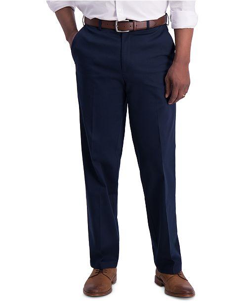 Haggar Men's Premium Classic-Fit Performance Stretch Non-Iron Flat-Front Dress Pants