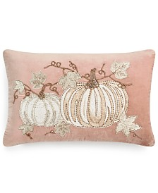 "Home Design Studio Pumpkin Patch 14"" x 20"" Decorative Pillow, Created for Macy's"