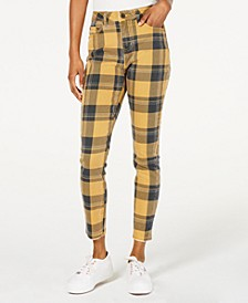 Plaid Ankle Jeans