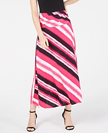 INC Printed Convertible Maxi Skirt, Created for Macy's