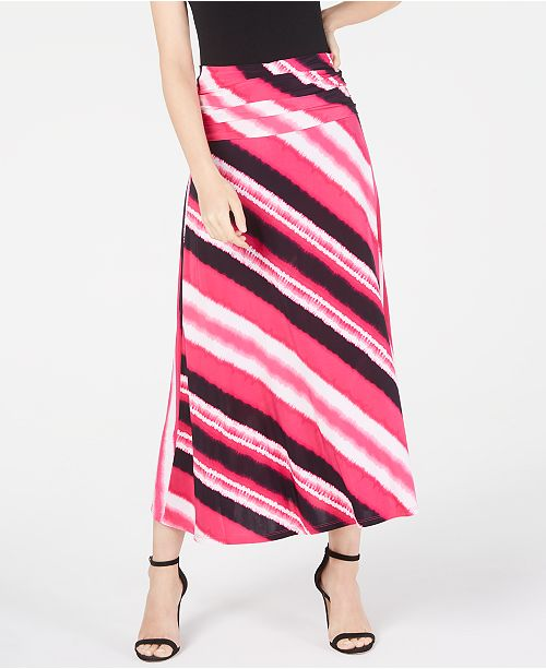 INC International Concepts INC Printed Convertible Maxi Skirt, Created for Macy's