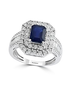 EFFY® Sapphire (1 1/2 ct. t.w) and Diamond (1/2 ct. t.w) Ring in 14K White Gold (Also Available In Tanzanite)