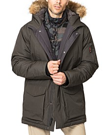Outfitter Men's Big & Tall Long Snorkel Parka with Faux Fur Hood