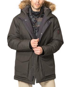 Men's Snorkal Hooded Parka with Removable Faux-Fur Trim