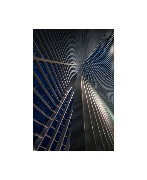 "Trademark Global Jef Van Den Calatrava Lines at the Blue Hour Canvas Art - 20"" x 25"""