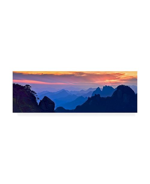 "Trademark Global Mei Xu Sanqing Mountain Sunset Canvas Art - 20"" x 25"""