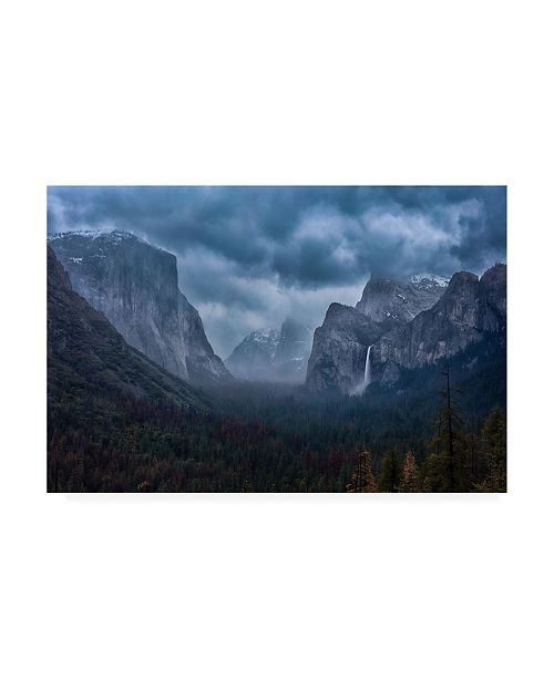 """Trademark Global Michael Zheng Amidst a Thunderstorm Canvas Art - 37"""" x 49"""""""