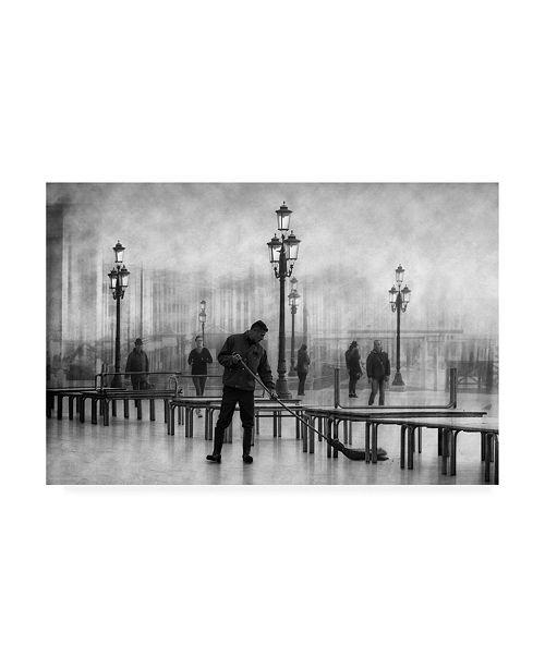 """Trademark Global Roswitha Schleicher Schwarz Clean City 4 Canvas Art - 37"""" x 49"""""""