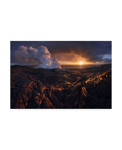"Trademark Global Inigo Cia Lava Fields Canvas Art - 15"" x 20"""