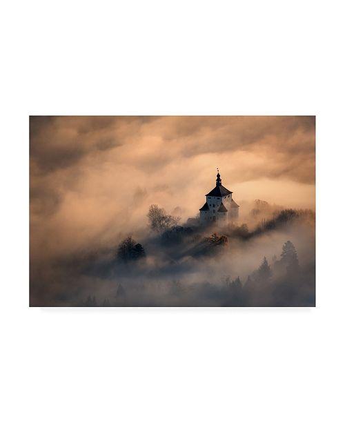 "Trademark Global Peter Kovacik Castle in Fire Canvas Art - 20"" x 25"""