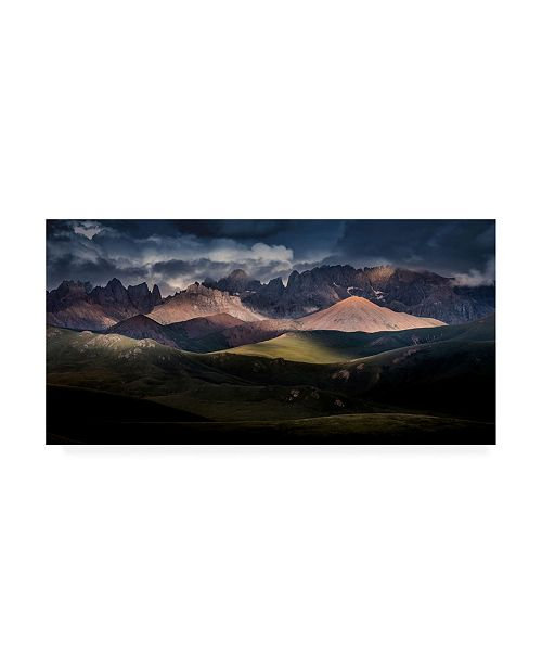 "Trademark Global Qiye Tibetan Kamiyama Canvas Art - 20"" x 25"""