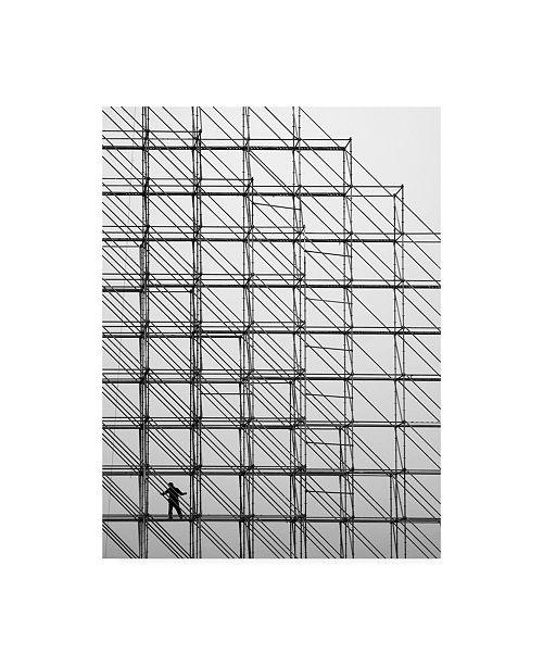 "Trademark Global Dong Hee Han Cube Scaffold Canvas Art - 20"" x 25"""