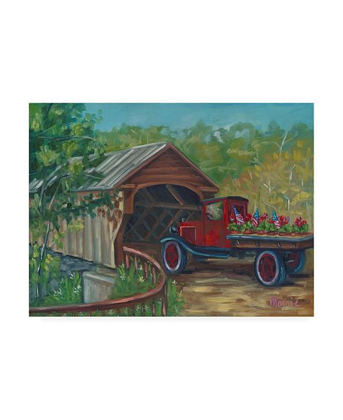 """Trademark Global Marnie Bourque Out For Delivery Canvas Art - 37"""" x 49"""""""