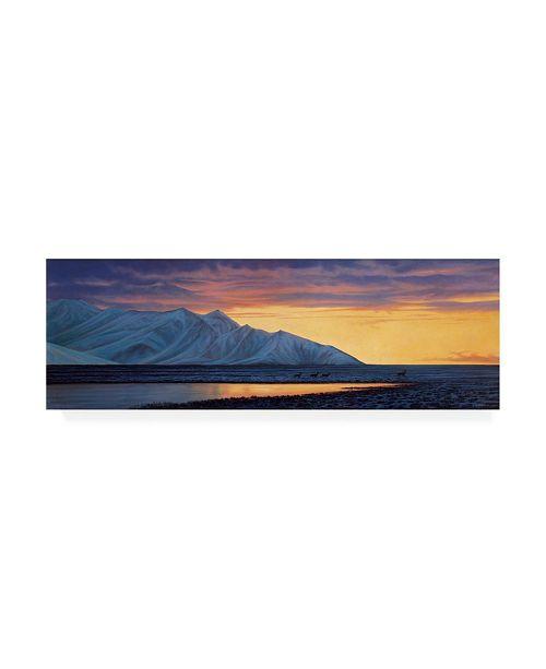 """Trademark Global Michael Budden Antelope Overlook Canvas Art - 37"""" x 49"""""""