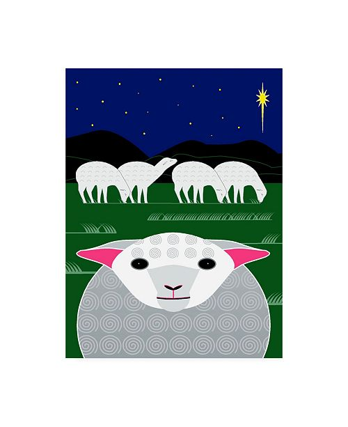 "Trademark Global Marie Sansone Vertical Christmas Sheep Canvas Art - 15"" x 20"""