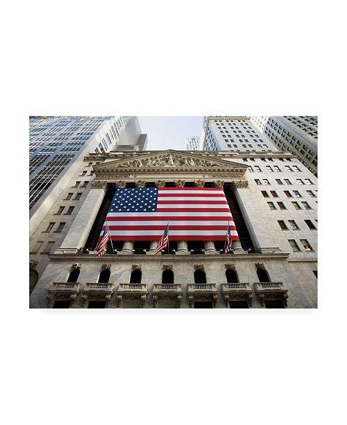 "Trademark Global Monte Nagler Wall Street New York City New York Color Canvas Art - 20"" x 25"""