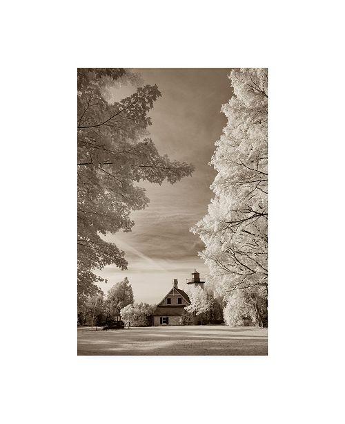 "Trademark Global Monte Nagler Eagle Bluff Lighthouse Door County Wisconsin Canvas Art - 20"" x 25"""
