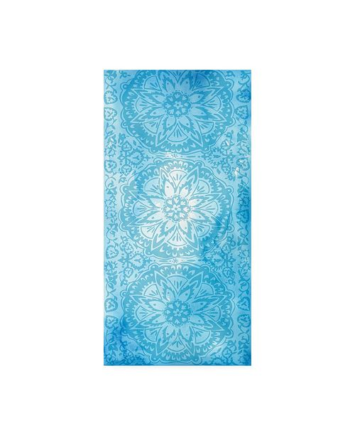 "Trademark Global Chariklia Zarris Cobalt Deco Panel II Canvas Art - 15"" x 20"""