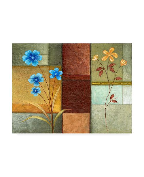 "Trademark Global Pablo Esteban Blue Left, Orange Right Canvas Art - 15.5"" x 21"""