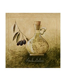 "Pablo Esteban Olive Oil Branches 2 Canvas Art - 15.5"" x 21"""