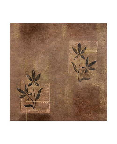 "Trademark Global Pablo Esteban Leaves Over Panels Texture Canvas Art - 19.5"" x 26"""
