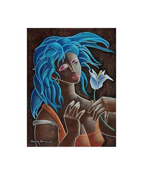 "Trademark Global Oscar Ortiz Flower and Wind Canvas Art - 36.5"" x 48"""