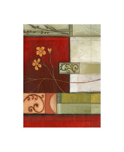 "Trademark Global Pablo Esteban Three Orange Flowers Canvas Art - 19.5"" x 26"""