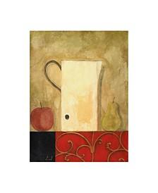 """Pablo Esteban White Jug Next to Fruit 1 Canvas Art - 15.5"""" x 21"""""""