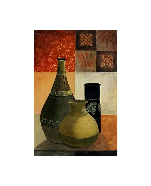 "Trademark Global Pablo Esteban Vases Over Geometry 3 Canvas Art - 19.5"" x 26"""