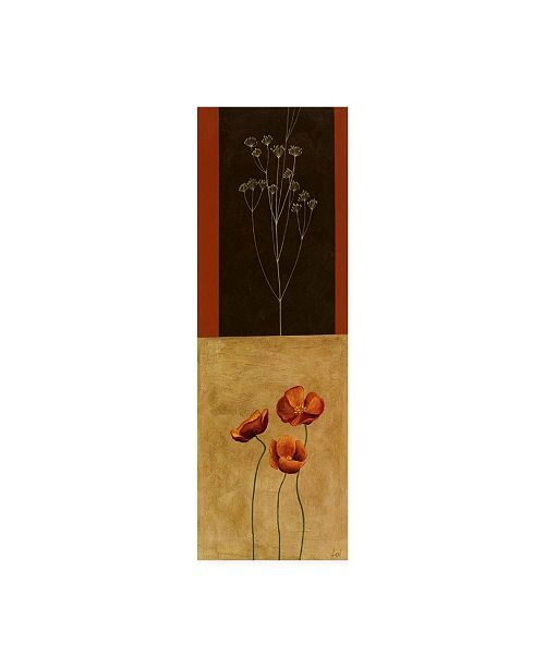 "Trademark Global Pablo Esteban Flowers and Line Art 3 Canvas Art - 36.5"" x 48"""