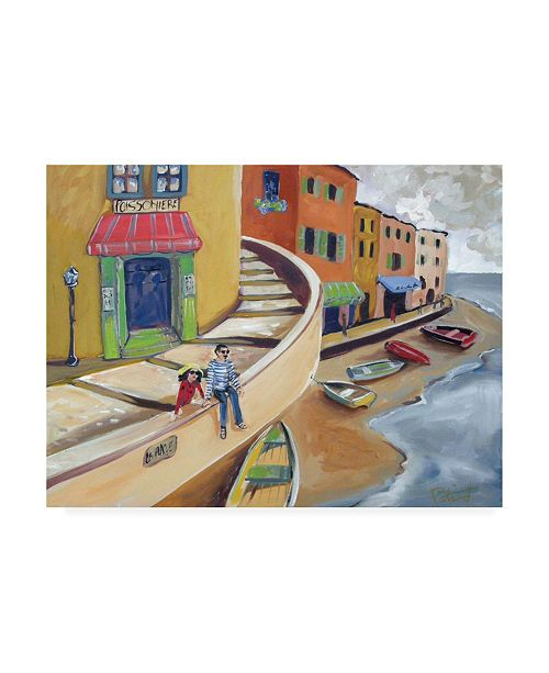 """Trademark Global Patricia A. Reed Sitting on the Coast Canvas Art - 36.5"""" x 48"""""""
