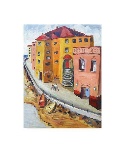"Trademark Global Patricia A. Reed Mediterranean Coast Canvas Art - 36.5"" x 48"""