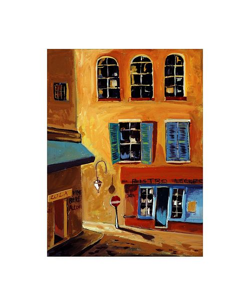"""Trademark Global Patricia A. Reed Bistro Le Clec Canvas Art - 36.5"""" x 48"""""""