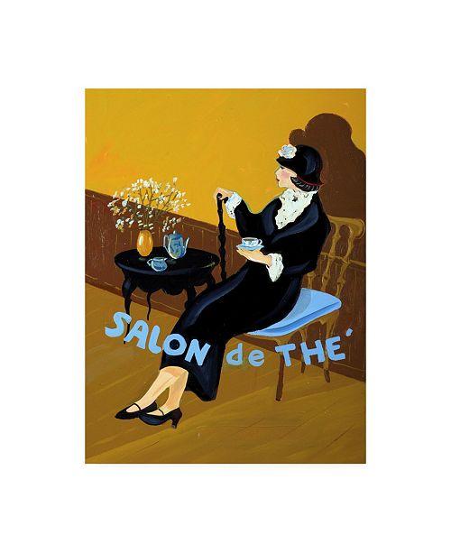 "Trademark Global Patricia A. Reed Salon De the I Canvas Art - 19.5"" x 26"""