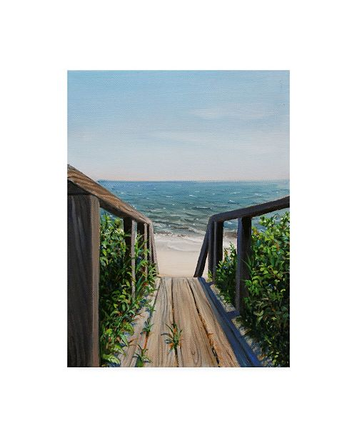 "Trademark Global Paul Walsh Beach Walk Way Canvas Art - 19.5"" x 26"""