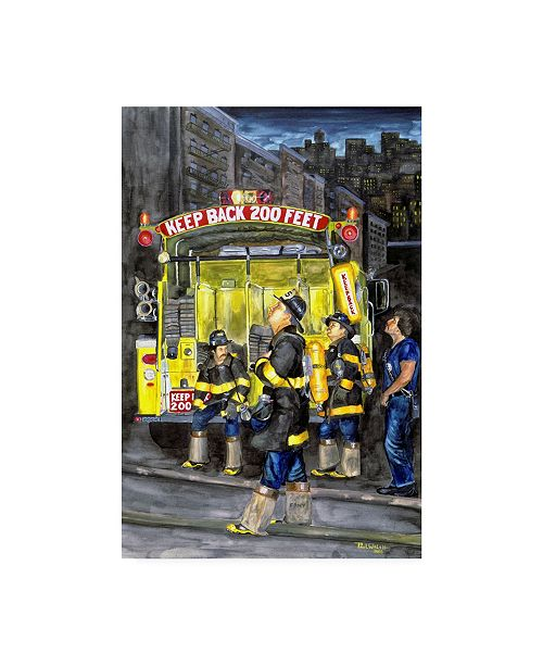 "Trademark Global Paul Walsh Standing Fast Canvas Art - 19.5"" x 26"""