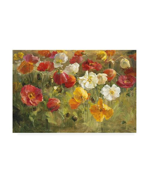 "Trademark Global Danhui Nai Poppy Field Painting Canvas Art - 19.5"" x 26"""