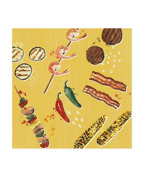 """Trademark Global Victoria Borges Throw it on the Grill I Canvas Art - 19.5"""" x 26"""""""
