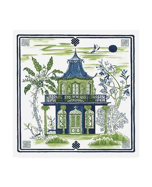 "Trademark Global Melissa Wang Pagoda Visit II Canvas Art - 15.5"" x 21"""