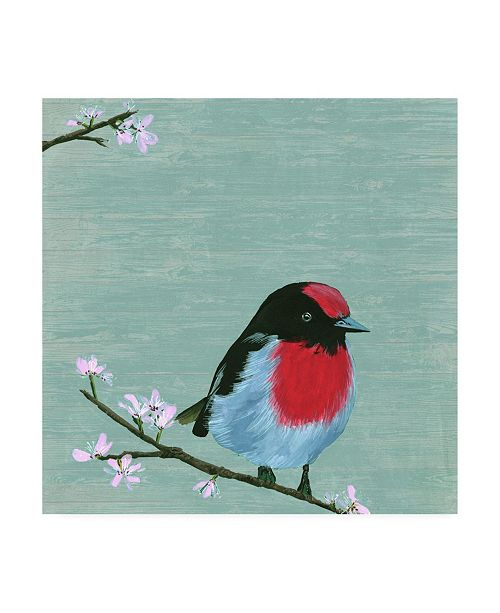 "Trademark Global Melissa Wang Bird & Blossoms IV Canvas Art - 19.5"" x 26"""