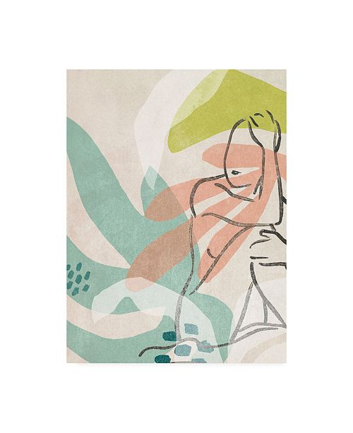 "Trademark Global June Erica Vess Tropical Nude II Canvas Art - 19.5"" x 26"""